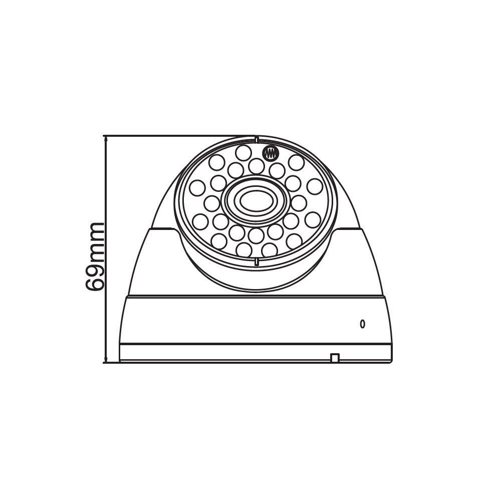 Solidron 500TVL IRDome Güvenlik Kamerası